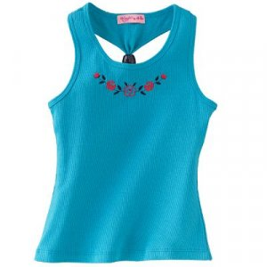 Candie's Racerback Embroidered tank top Sz XL Girls Youth  NWT FREE SHIPPING!!