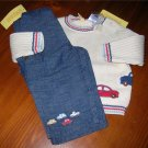 Gymboree Traffic Jam 2pc set Sz 9-12 mo FREE SHIPPING!!