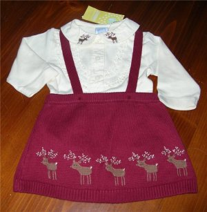Gymboree Reindeer 2pc Outfit Sz 3-6 Mo NWT FREE SHIPPING!!!