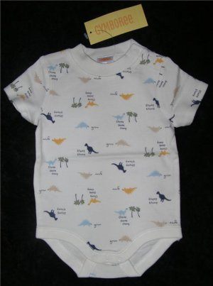 Gymboree My Dinasaur Onesie Sz 3-6 mo New FREE SHIPPING!!!