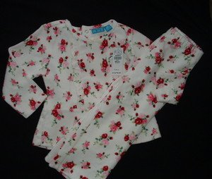Childrens Place Floral 2 pc outfit top pants 24 2T NWT