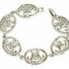 Juicy Couture Crystal Silver Logo Link Bracelet