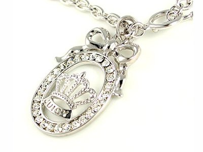Juicy Couture Bowtie Crown Necklace