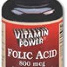 Folic Acid 800 mcg Tablets 100 Count