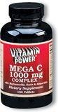 Mega Vitamin C 1000 mg Complex Tablets 100 Count