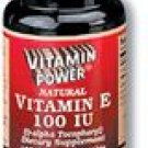 Natural Vitamins E 100 IU Softgels 100 Count