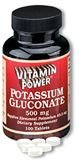 Potassium Gluconate 500 mg Tablets 100 Count