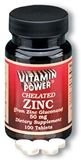 Chelated Zinc 50 mg Tablets 100 Count