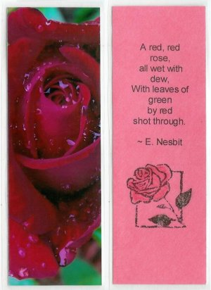 Rose Photography Bookmark
