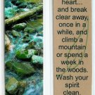 Nature Stream Photography Bookmark