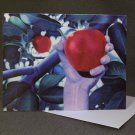 "4 Blank Greeting Cards Notecards- ""William""- Colored Pencil Artwork"