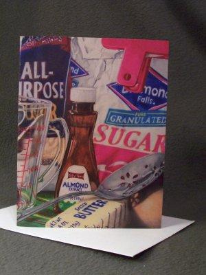 """Christmas Cookies""- Colored Pencil Artwork- Greeting Card Notecard Blank"