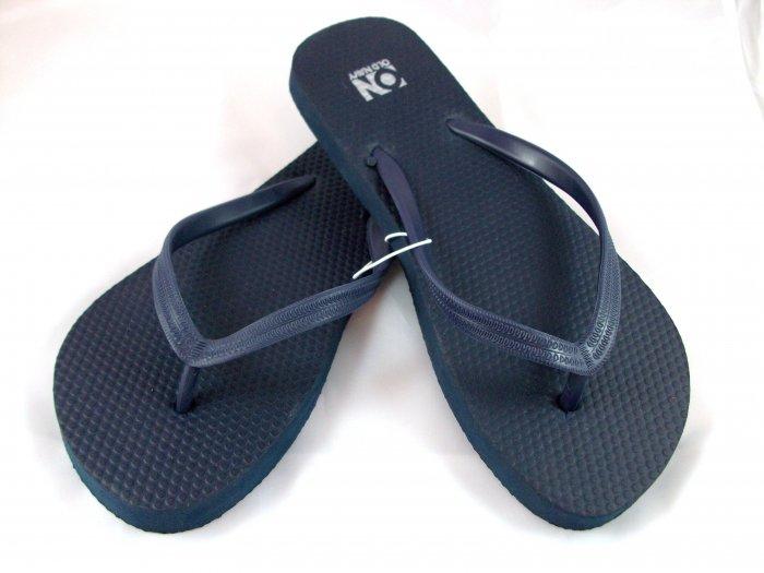 Women's Navy Blue Flip Flops - Size 8