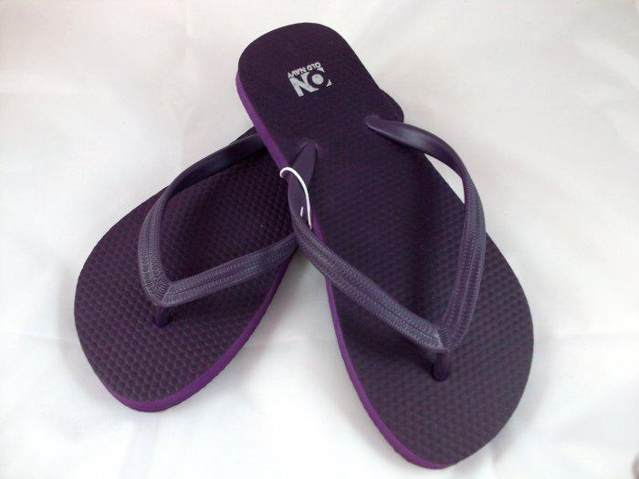 Women's Deep Purple Flip Flops - Size 6