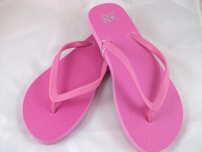 Women's Pink Flip Flops - Size 10