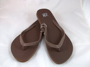 Women's Brown Flip Flops - Size 6