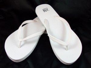 Women's White Flip Flops - Size 6