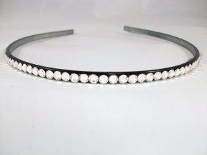Thin Black Headband with Swarovski Crystals