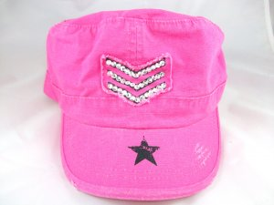 Women's Pink Military Cap