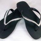 Women's Havaianas Black Flip Flops - size 8/9*