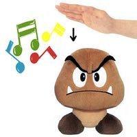 "Official Nintendo 8"" Mario Brothers Goomba Sound Plush Stuffed Toy"