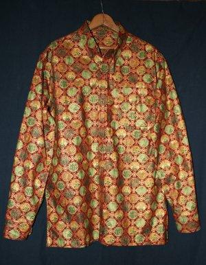 men's casual long-sleeve button-down shirt: medallions