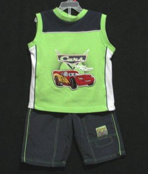 BOYS DISNEY LIGHTENING MC QUEEN BTS SET, Sz. 7, EUC!!