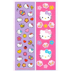 HELLO KITTY BUGGY BUDDY STICKER PAK
