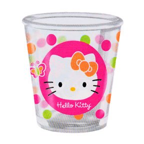 HELLO KITTY CLEAR SOUVENIR CUP (12OZ)
