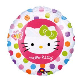 HELLO KITTY MYLAR BALLON (18IN.)