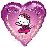 HELLO KITTY PRINCESS HEART 18IN. MYLAR B