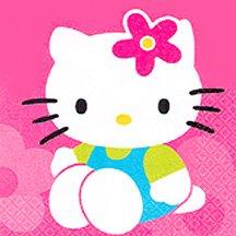 HELLO KITTY FLOWER FUN BEVERAGE NAPKIN
