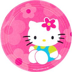 HELLO KITTY FLOWER FUN DESSERT PLATE