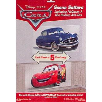 CARS MCQUEEN & DOC HUDSON SCENE SETTER