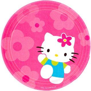 HELLO KITTY FLOWER FUN DINNER PLT (9IN.)