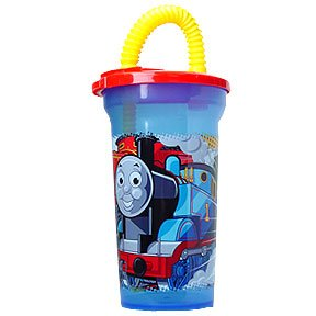 THOMAS 15OZ FUN SIP CUP WITH STRAW