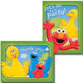 SESAME SUNNY DAYS INVITE/THANK YOU COMBO