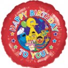SESAME BIRTHDAY PARTY MYLAR