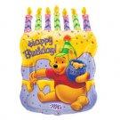 """POOH CAKE & CANDLES JUMBO MYLAR 26"""""""