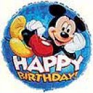 MICKEY MOUSE HAPPY BIRTHDAY MYLAR
