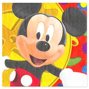 MICKEY'S CLUBHOUSE LUNCHEON NAPKIN