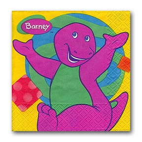 BARNEY BEVERAGE NAPKIN