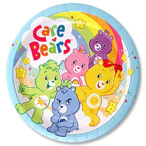 """CARE BEARS HAPPY DAY DINNER PLATE (9"""")"""