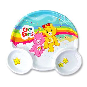 CARE BEARS HAPPY DAY KIDS PLATE
