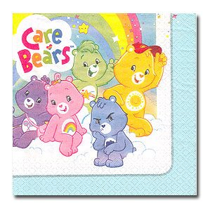 CARE BEARS HAPPY DAY LUNCHEON NAPKIN