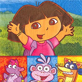 DORA & FRIENDS BEVERAGE NAPKIN