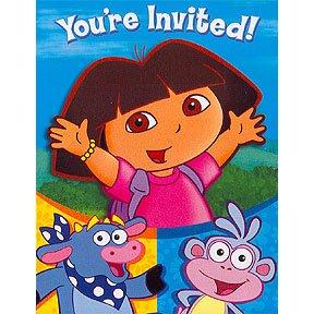 DORA & FRIENDS INVITE/THANK YOU COMBO