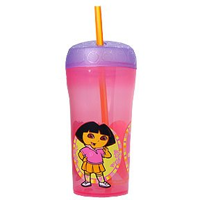 DORA 15OZ SIPPER CUP W/STRAW