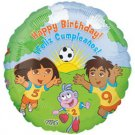 DORA HAPPY BIRTHDAY MYLAR BALLOON