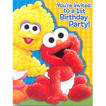 SESAME 1ST BDAY INVITATION